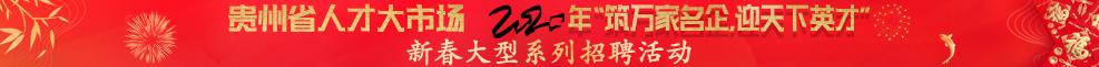"""贵州省人才大市场 2020年""""筑万家名企,迎天下英才"""" 新春大型系列招聘活动"""