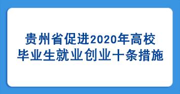 貴州省促進2020年高校畢業生就業創業十條措施