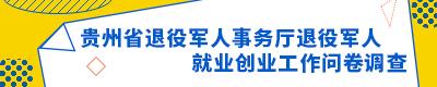 貴州省退役軍人事務廳退役軍人就業創業工作問卷調查