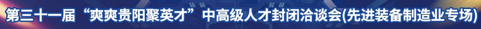 """第三十一届""""爽爽贵阳聚英才""""中高级人才封闭洽谈会(先进装备制造业专�。�"""